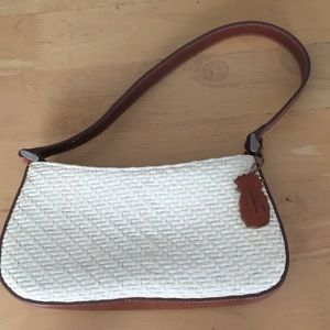 Purse beige and brown